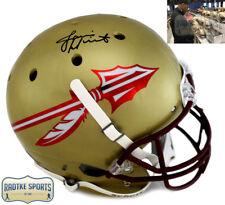 Jameis Winston firmado Florida State Seminoles Schutt casco dorado de la NCAA de tamaño completo