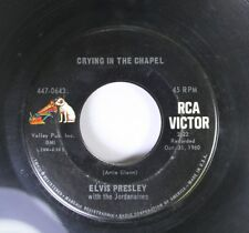 Rock 45 Elvis Presley With The Jordanians - Crying In The Chapel / I Believe In