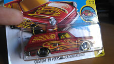 AUTO '69 CUSTOM VOLKSWAGEN SQUARBACK HOT WHEELS DHX65 NUOVO IN SCATOLA ORIGINALE