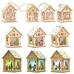 DIY 3D House Decorated Block Pre-Cutting Luminous Christmas Handmade Toy Gift