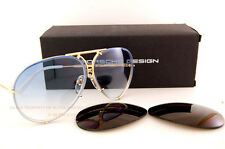New Porsche Design Sunglasses 8478 W Gold Interchangeable Lenses Men Women SZ 63