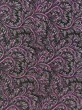 1 yd RJR Manhattan Pearls Swirl Purple Black White Cotton Quilt Fashion Fabric
