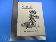 Playbill Belasco Theatre The Madwoman of Chaillot February 21, 1949 S7502