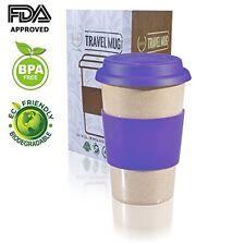 Travel Mug & Lid Reusable To Go PURPLE 14oz Coffee Cup best Gift FDA BPA Free