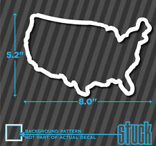 USA Outline Track Map Style - vinyl decal sticker - America Race US Merica