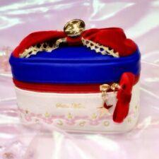 Sailor Moon Makeup Bag Leather Girl Women Red Bowknot Cosmetics Case Organizer