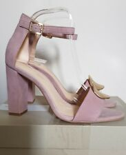 Clarks Curtain Deco Ankle Strap Sandal Uk6 Dusty Pink Suede