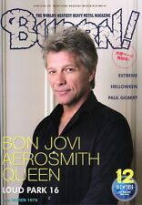 Burrn! Heavy Metal Magazine December 2016 Japan Bon Jovi Aerosmith Queen