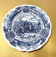 Vintage America Hurrah English Ironstone Hand Engraved Decorative Plate