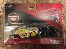 DISNEY PIXAR CARS 3 JAMBALAYA CHIMICHANGA DEMO DERBY SYNTHETIC RUBBER TIRES 1:55