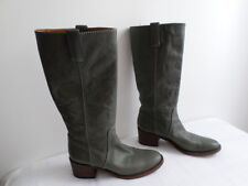 """Authentic """"CHLOE"""" grey leather boots, size UK7/EU40, excellent condition"""