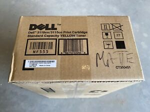 Dell 3110CN 3115CN Standard Capacity Yellow Toner New In Box!