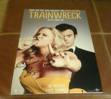 AMY SCHUMER Signed TRAINWRECK 12X18 MOVIE POSTER PHOTO
