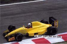 9x6 Photograph Bertrand Gachot , Coloni-Cosworth C3C, Belgian GP Spa 1990