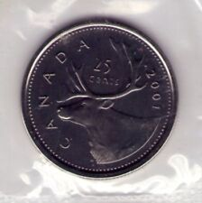2001 P Canada 25 cent, Proof Like, Sealed in Cello from PL Set