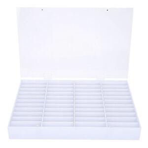 44-Grid Nail Art Display Box Detachable Fake Nail Tips Beads Case Organizer .