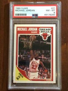 1989 Fleer — Michael Jordan — 4th Year — PSA 8