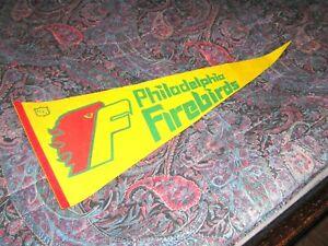 Vintage NAHL FULL SIZE FELT PENNANT Philadelphia Firebirds RARE 70s HOCKEY!