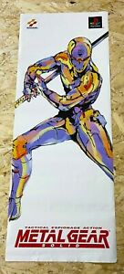 Metal Gear Solid 83.9cm x 20cm Shop Promo Poster 100% Original PS1 0.99 START