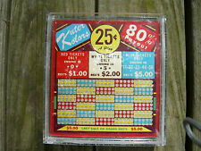 """Old Vintage Punch Board """"The Bee Jay Original"""" Kuter Kolors 25 Cent With Case!!"""