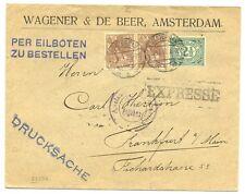 NEDERLAND 1916  EXPRESSE  DRUKWERK  NAAR DUITSLAND  CENSUUR  PRACHT
