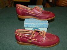 NIB SCHOLL GLOVE Burgundy Loafer Occupational Orthopedic Shoe Size 6 M
