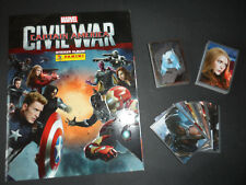 PANINI AVENGERS CAPTAIN AMERICA CIVIL WAR COMPLETE 204 STICKER SET & ALBUM