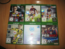Xbox One FIFA Spiele-14,15,16,17,18, PES 2017  Pro Revulution Soccer