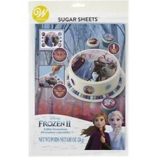 NEW/SEALED - WILTON SUGAR SHEET - EDIBLE CAKE DECORATION - FROZEN 2