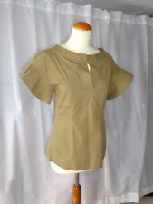 WIE NEU! Designer Bluse SCHUMACHER gr 2 36 camicetta blouse shirt khaki dorothee