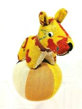 Vintage Dog on Ball Pincushion Tape Measure Colorful