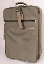 """Briggs & Riley Carry-On 21"""" Olive Travel Suitcase Luggage Locking Garment Bag"""