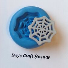 Silicone Mould Spiders Web Halloween Cupcake Pop Topper Embellishment Sugarcraft