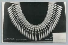 Gold Necklace~Monte Alban OAXACA Mexican RPPC Vintage Photo Foto Osuna 1950s
