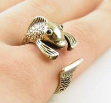 Animal Wrap Ring Gold Fish Adjustable Size 7 Ring