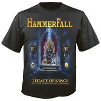 OFFICIAL LICENSED - HAMMERFALL - LEGACY OF KINGS 20 YEAR T SHIRT HEAVY METAL