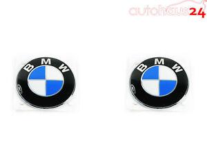 BMW 51 14 1 970 248 REAR EMBLEM BADGE LOGO ROUNDEL 78MM Z3 FENDER SET OF 2 OEM
