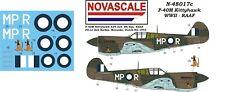 RAAF P-40M Kittyhawk Mini-Set Decals 1/48 Scale N48017c