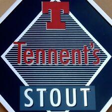 TENNENT'S STOUT Beer Altes Glasschild GB. Glasgow 70er PERFEKT Bier Brauerei RAR