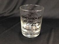 Vintage Chevrolet Racing Monte Carlo Bowtie Drink Glass Clear