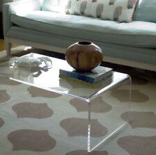Tavolino  Trasparente Lucido Brillante in plexiglass da salotto 85x50 h:35 cm -