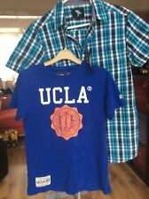 bundle xs mens 2x tops ucla t-shirt & *new* short sleeve checked shirt