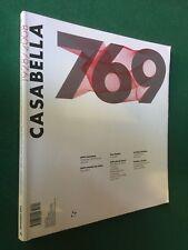 CASABELLA n. 769 (2008) Rivista di Architettura PETER EISENMAN Magazine Design