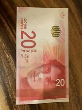 Israel Banknote  New 20 New Good Condition Shekels , Single Banknote, UNC