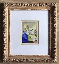 Aquarelle Originale Jean-Adrien Mercier (1899-1995) La Belle Au Bois Dormant