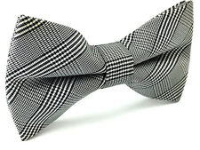 Mens Bowtie Grey Stripes Plaids Wedding Tuxedo Business Formal Groom Bow Tie