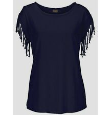 UK Womens Casual Tassel Fringe Blouse Ladies Casual Loose Top T Shirt New