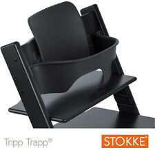 STOKKE Tripp Trapp Hochstuhl Baby Set schwarz Kinder Baby Stuhl Sitz sTEXT