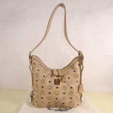 Authentic MCM Visetos Hobo Medium Shoulder Bag + Care Card + Dust Cover