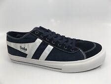 Gola Quota 2 Mens Navy Suede & Canvas Casual Trainers Shoes SZ 12.0 M NEW, 11686